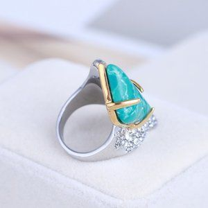 Alexis Bittar Natural Turquoise Zircon Ring